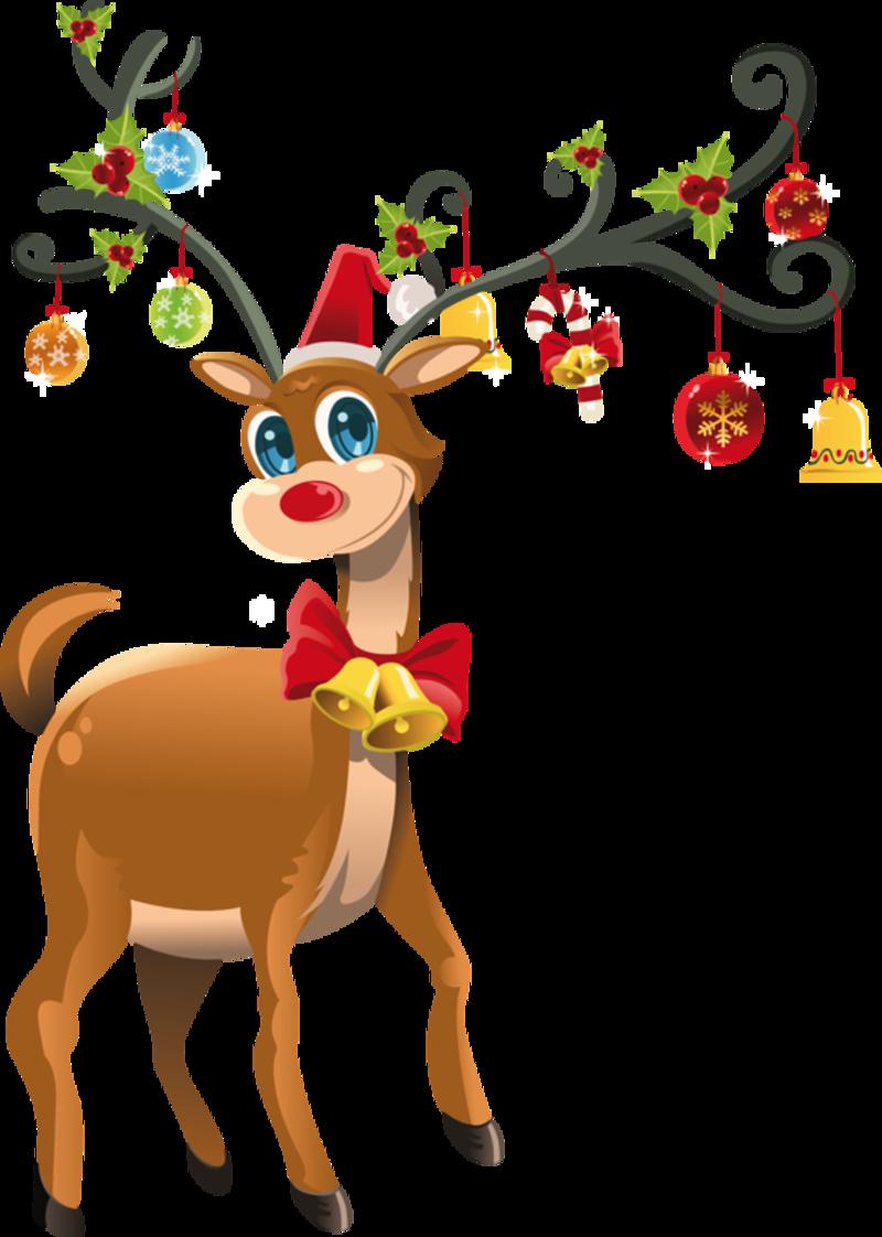Noel tubes animaux - Dessin de renne au nez rouge ...