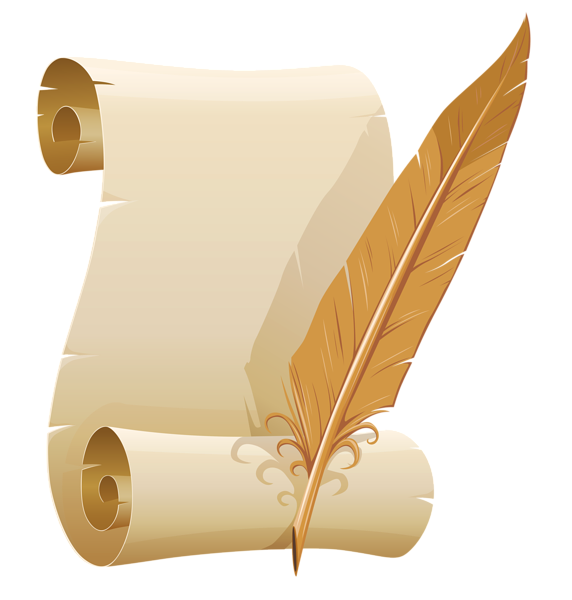 Quill And Paper Png Scrolled_Paper_...